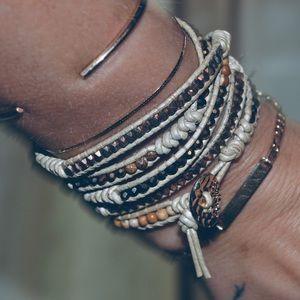 Hemp Beaded Wrap Bracelet